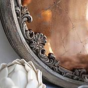 """Для дома и интерьера ручной работы. Ярмарка Мастеров - ручная работа состаренное зеркало """"Аврора"""". Handmade."""
