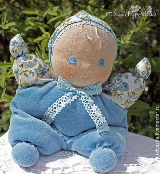 Вальдорфская игрушка ручной работы. Ярмарка Мастеров - ручная работа. Купить Вальдорфская кукла Майский Малыш. Handmade. Голубой