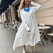 Одежда handmade. Livemaster - original item dresses: Loose-fitting dress with pleats. Handmade.