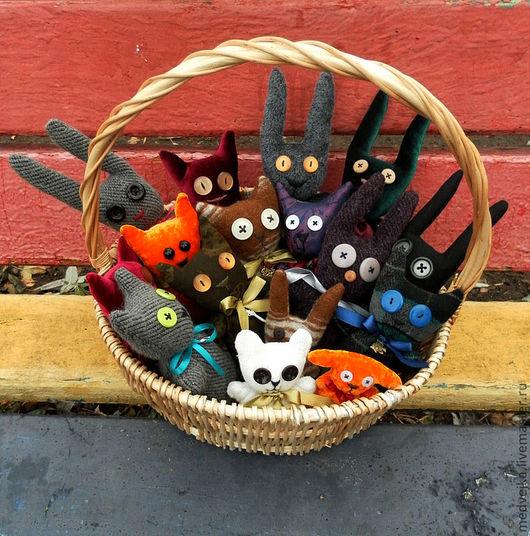 Игрушки животные, ручной работы. Ярмарка Мастеров - ручная работа. Купить Игрушки Зверики. Handmade. Зверята, котята, мягкая игрушка