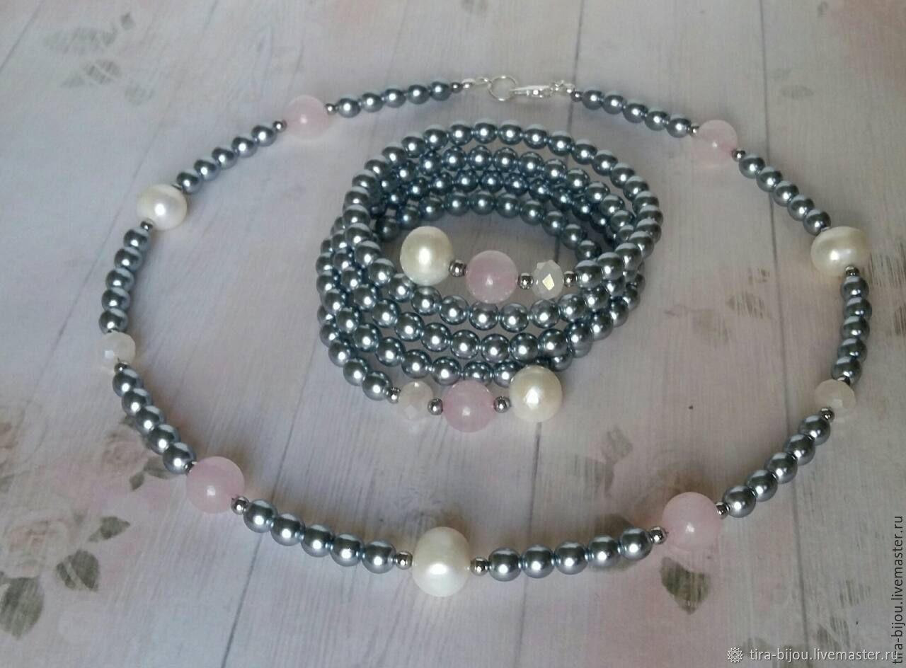 Set Silver pink, Jewelry Sets, Moscow,  Фото №1