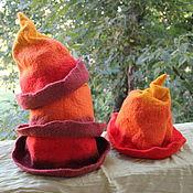Для дома и интерьера ручной работы. Ярмарка Мастеров - ручная работа банные шапки Семья гномов. Handmade.
