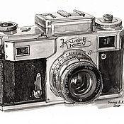 Картины и панно handmade. Livemaster - original item Poster, reproduction-camera Kiev-4. Handmade.