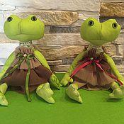 Куклы и игрушки ручной работы. Ярмарка Мастеров - ручная работа Лягушки интерьерные. Handmade.