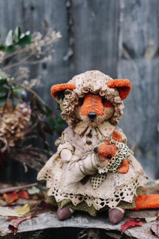 Ароматизированные куклы ручной работы. Ярмарка Мастеров - ручная работа. Купить Лиса мама.. Handmade. Оранжевый, кантри стиль