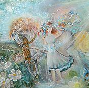 """Картины и панно ручной работы. Ярмарка Мастеров - ручная работа Картина """"Девушка Лето...."""". Handmade."""