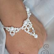 Украшения ручной работы. Ярмарка Мастеров - ручная работа Свадебное украшение на руку Диана. Handmade.