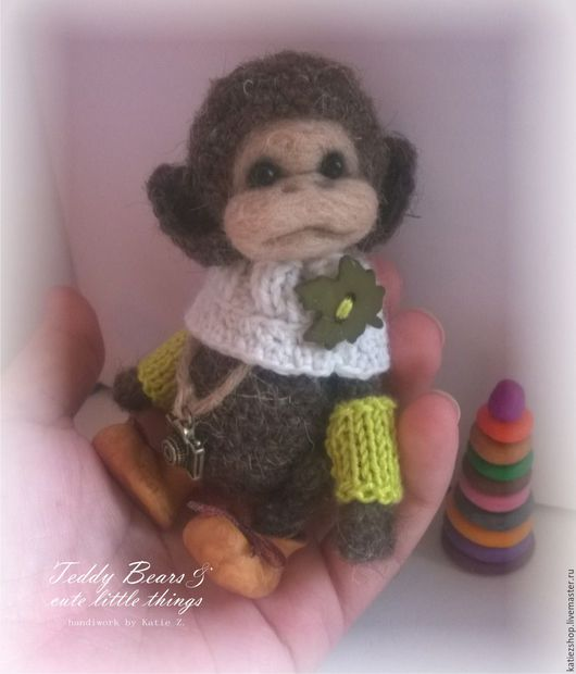 Обезьянки - игрушки. Авторская игрушка ручной работы. Обезьянки ручной работы, обезьянки - сувениры. Купить игрушку обезьянку. Katie Z. Ярмарка мастеров.