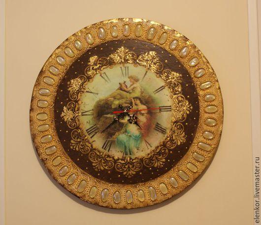 Часы для дома ручной работы. Ярмарка Мастеров - ручная работа. Купить Часы Античные грации. Handmade. Золотой, часы в гостиную