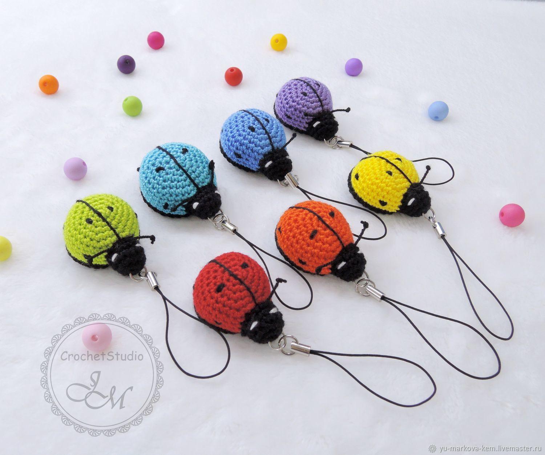 keychain: Crocheted ladybug keychain, key chain, bag, Key chain, Kemerovo,  Фото №1