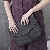 Сумки и аксессуары handmade. Livemaster - original item Bag genuine leather gray-marsh. Handmade.