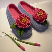 """Обувь ручной работы. Ярмарка Мастеров - ручная работа Валяные тапочки """"Шик"""" (женские). Handmade."""