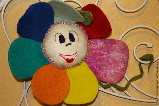 Цветик Семицветик для самых маленьких, ручной работы из натуральной шерсти и шелка. Ярмарка  Мастеров. Мачнева Евгения(sladuniya)