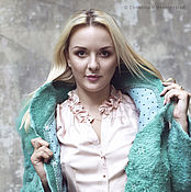 Одежда handmade. Livemaster - original item Wool coat Mint. Handmade.