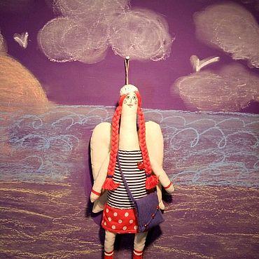 Куклы и игрушки ручной работы. Ярмарка Мастеров - ручная работа Девочка ангел и море. Handmade.