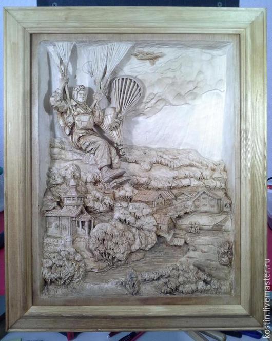 Пейзаж ручной работы. Ярмарка Мастеров - ручная работа. Купить Прыжок. Handmade. Картина из дерева, панно из дерева, деревянная картина