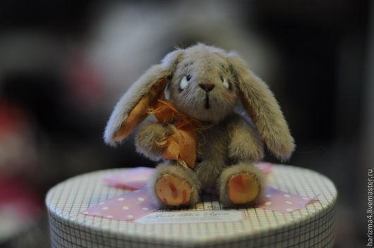Мишки Тедди ручной работы. Ярмарка Мастеров - ручная работа. Купить Зая 8см. Handmade. Бежевый, ручная авторская работа