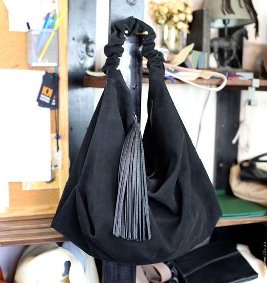 Женские сумки ручной работы. Ярмарка Мастеров - ручная работа. Купить Сумка - Мешок  - Хобо - Шоппер - из замши. Handmade.