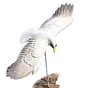 """Для дома и интерьера ручной работы. Ярмарка Мастеров - ручная работа Деревянная птица на подставке """"Орел"""". Handmade."""