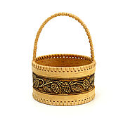 Для дома и интерьера handmade. Livemaster - original item Small birch bark basket