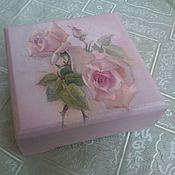 """Для дома и интерьера ручной работы. Ярмарка Мастеров - ручная работа шкатулочка """"Розовые сны"""". Handmade."""