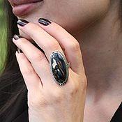 Украшения handmade. Livemaster - original item Enchantress ring with black agate in 925 sterling silver SP0133. Handmade.