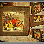 """Для дома и интерьера ручной работы. Ярмарка Мастеров - ручная работа Панно на кухню """"Тomato"""". Handmade."""