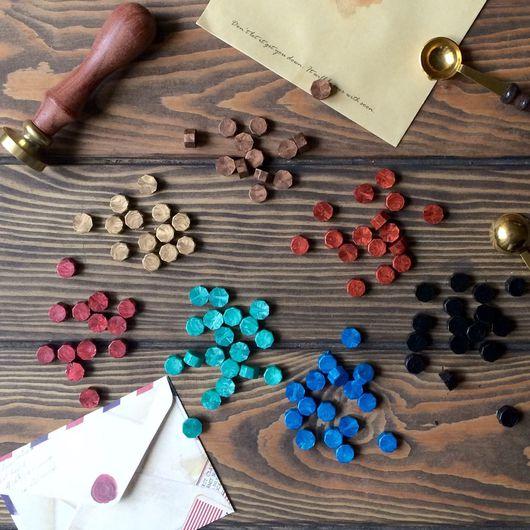 Открытки и скрапбукинг ручной работы. Ярмарка Мастеров - ручная работа. Купить Сургуч (цветной воск) в гранулах для сургучной печати. Handmade.