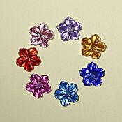 Материалы для творчества ручной работы. Ярмарка Мастеров - ручная работа кабошоны акриловые разноцветные Цветы. Handmade.