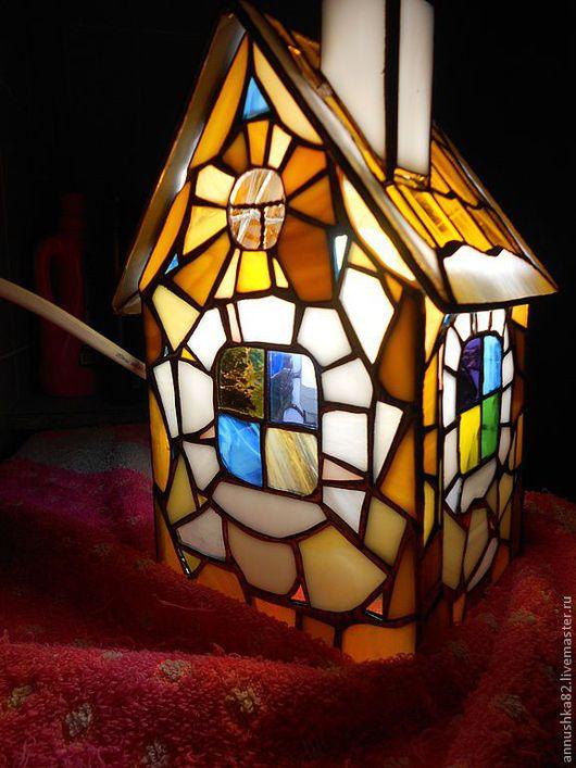 """Освещение ручной работы. Ярмарка Мастеров - ручная работа. Купить Светильник  """"Домик"""" -3. Handmade. Домик, рождество, провод"""