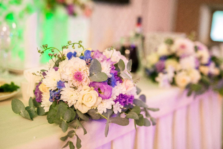Цветочная композиция в сиренево-белом цвете, Цветы, Москва, Фото №1