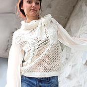 """Одежда ручной работы. Ярмарка Мастеров - ручная работа Пуловер """"Белый дым-II"""". Handmade."""