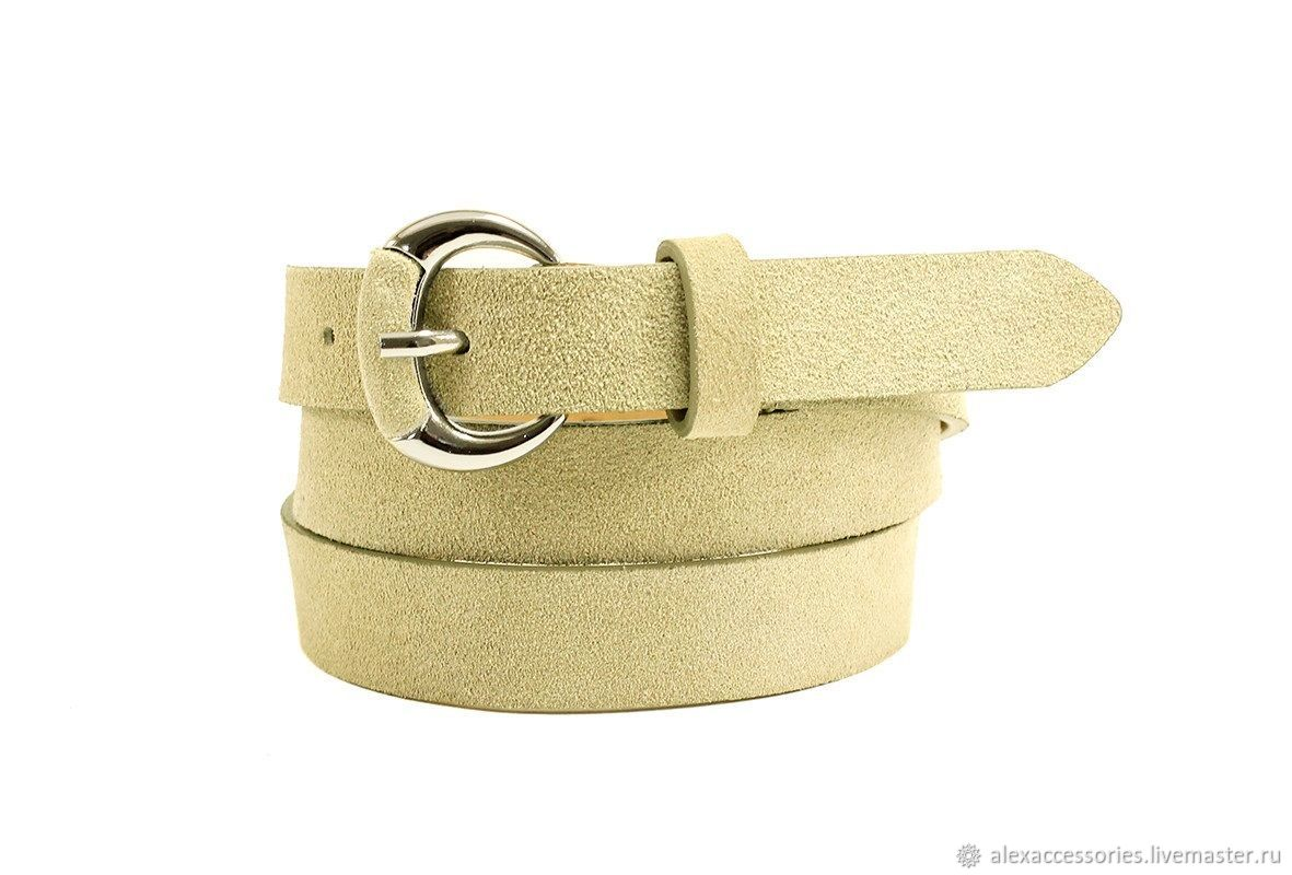 Beige suede belt, Straps, Moscow,  Фото №1