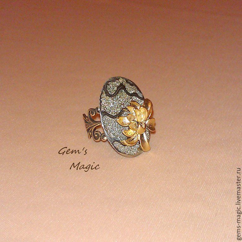 Ring of Ammonite Golden Lotus, Rings, Moscow,  Фото №1