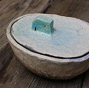 """Посуда ручной работы. Ярмарка Мастеров - ручная работа Баночка """"Скала"""". Handmade."""