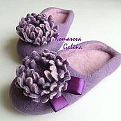 Обувь ручной работы. Ярмарка Мастеров - ручная работа женские валяные тапочки Purple. Handmade.