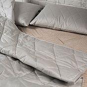 Для дома и интерьера handmade. Livemaster - original item Blanket with hemp filler, one-and-a-half-bed 140h205 cm satin. Handmade.
