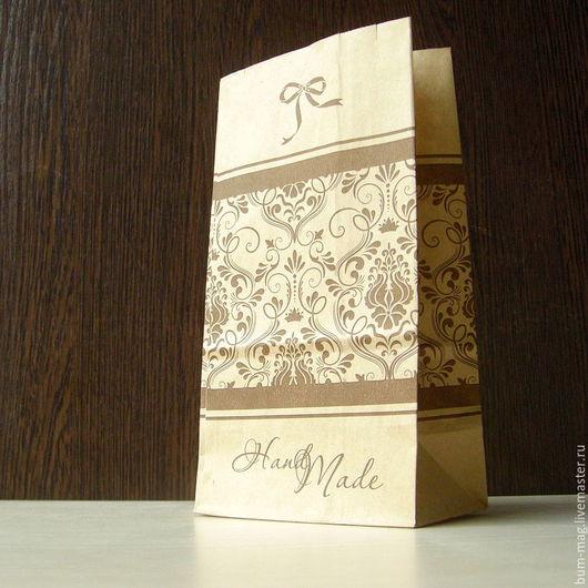 Упаковка ручной работы. Ярмарка Мастеров - ручная работа. Купить Крафт-пакет HandMade (10х19х7см). Handmade. Упаковка для подарка, крафт