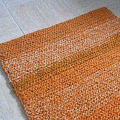 """Для дома и интерьера ручной работы. Ярмарка Мастеров - ручная работа коврик-дорожка вязаный """"Ржавый"""". Handmade."""