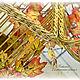 Клетка декоративная плетеная интерьерная Золотая осень. Подвески. Наталья Интерьерные решения. Ярмарка Мастеров.  Фото №4