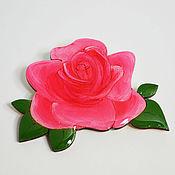 Украшения ручной работы. Ярмарка Мастеров - ручная работа Брошь роза значок деревянный. Handmade.