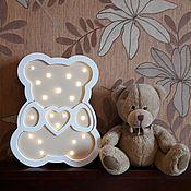 Для дома и интерьера ручной работы. Ярмарка Мастеров - ручная работа Детский светильник Мишка. Handmade.