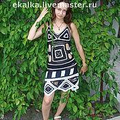 Одежда ручной работы. Ярмарка Мастеров - ручная работа геометричное платье. Handmade.