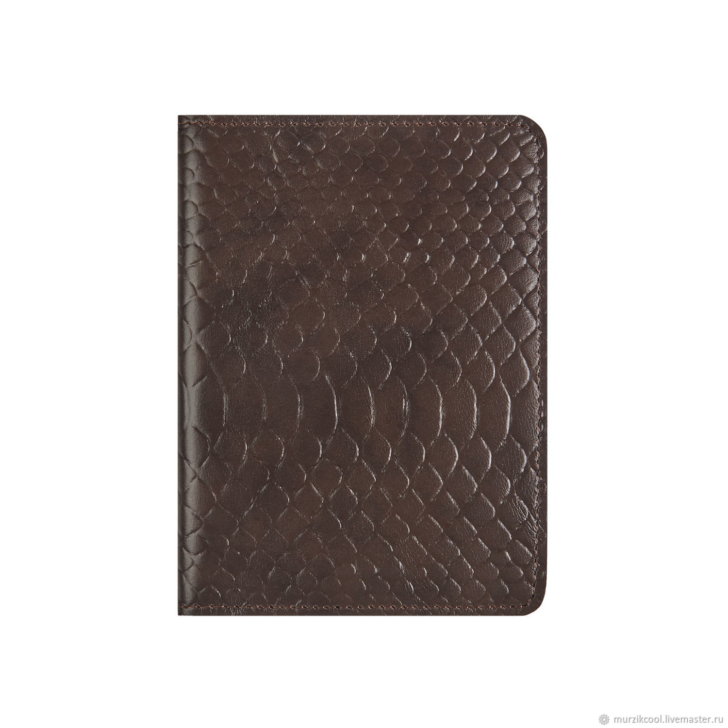 Passport cover 'Euro' Bitter chocolate Python, Passport cover, Moscow,  Фото №1
