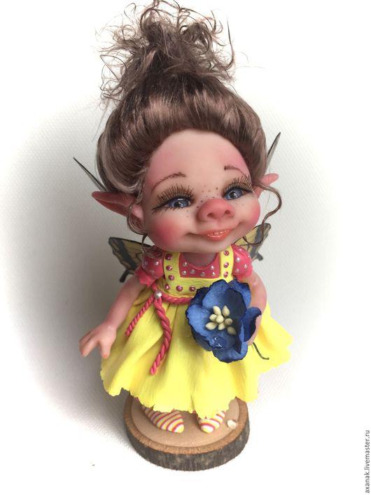 Коллекционные куклы ручной работы. Ярмарка Мастеров - ручная работа. Купить Элиза. Handmade. Желтый, лесной, феи