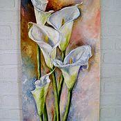 Картины и панно handmade. Livemaster - original item Oil painting Calla lilies. Handmade.
