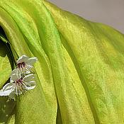 Аксессуары ручной работы. Ярмарка Мастеров - ручная работа Шелковый палантин  Лесная сказка шелковый шарф. Handmade.