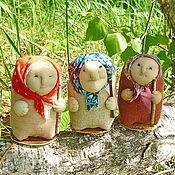 Куклы и игрушки ручной работы. Ярмарка Мастеров - ручная работа Бабульки с пожеланиями.. Handmade.