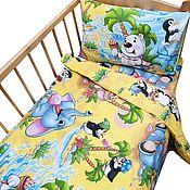 Для дома и интерьера ручной работы. Ярмарка Мастеров - ручная работа Постельное белье в детскую кроватку. Handmade.