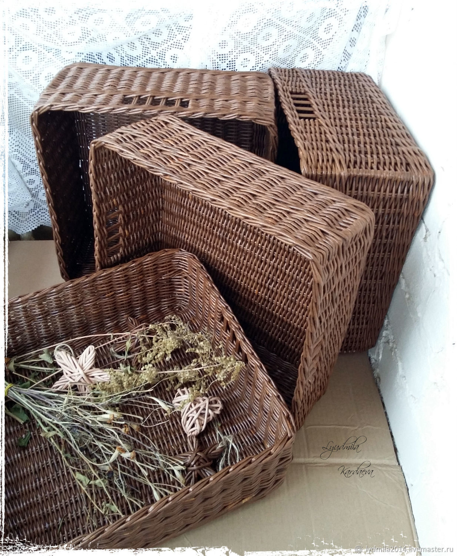 Storage basket in brown color ' Chocolate', Basket, Astrakhan,  Фото №1